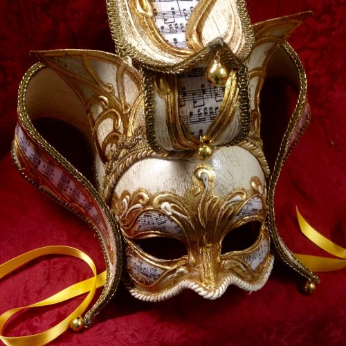 Maschera Veneziana Florence Dorato