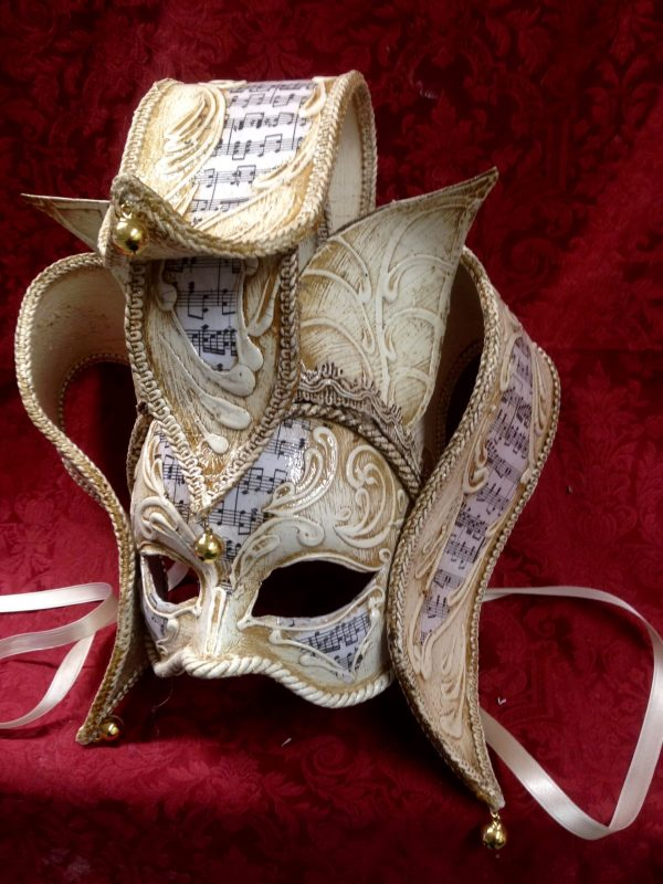 Maschera Veneziana Florence Avorio