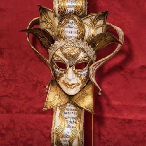Maschera Veneziana Flower Dorato