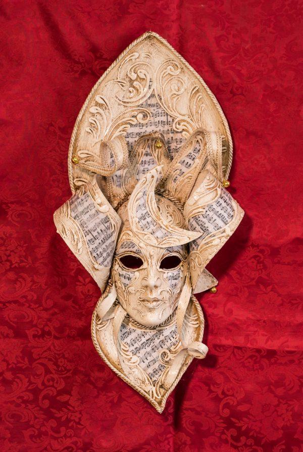 Maschera Veneziana MagicMoon Avorio