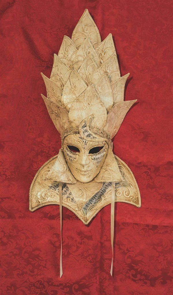 Maschera Veneziana Albero Avorio