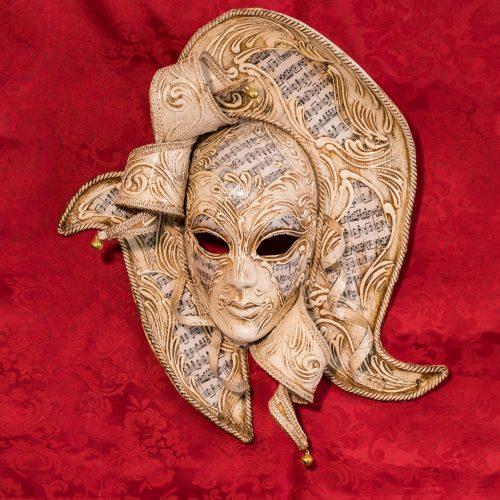 Maschera Veneziana Dama Avorio