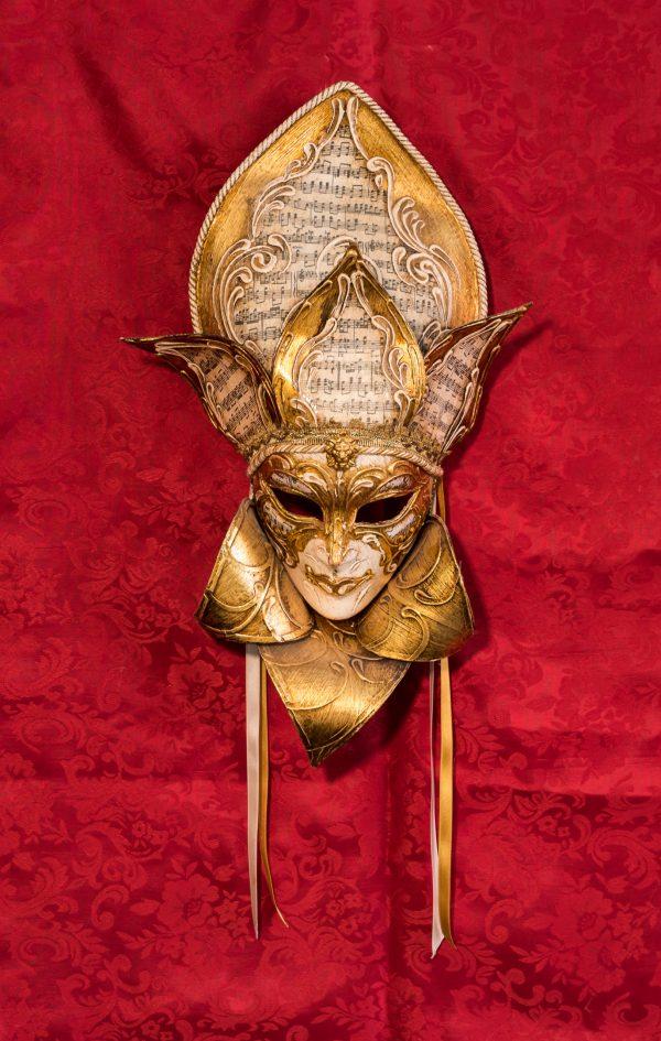 Maschera Veneziana Volto Foglia Vivaldi