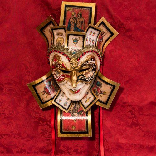 Maschera Veneziana Jolly Re Tarocchi
