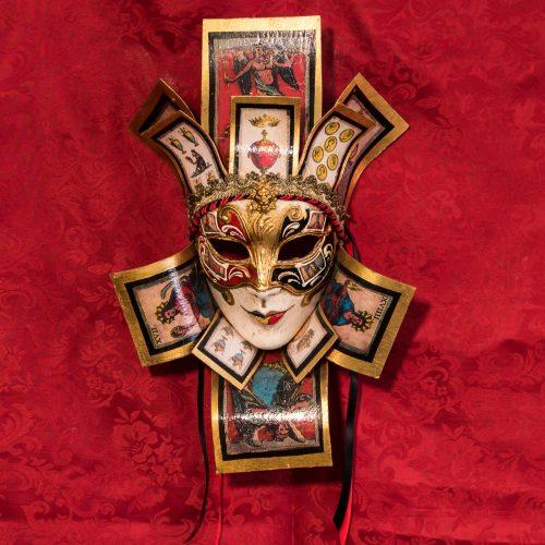Maschera Veneziana Jolly Regina Tarocchi