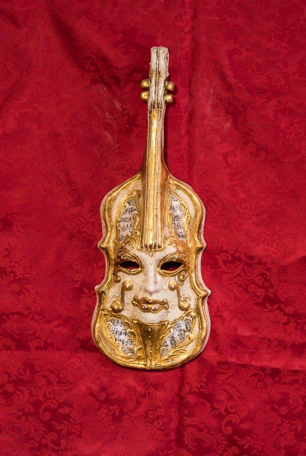 Maschera Veneziana Violino Dorato