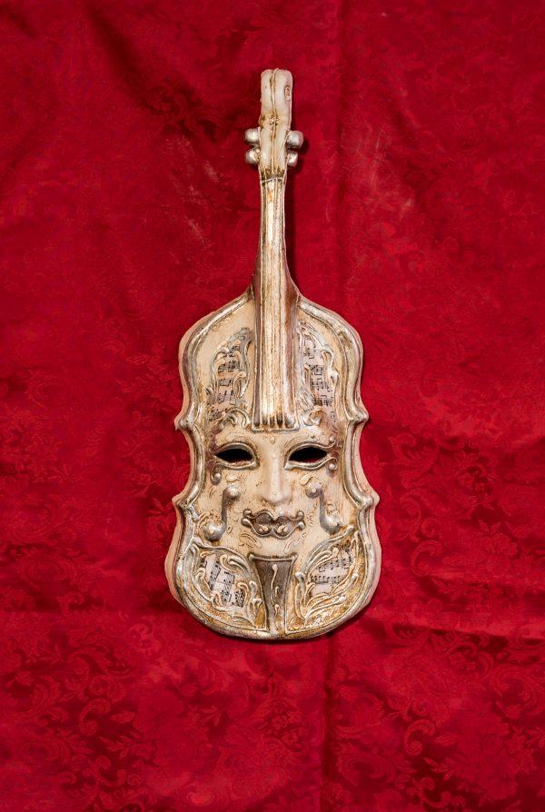 Maschera Veneziana Violino Argento