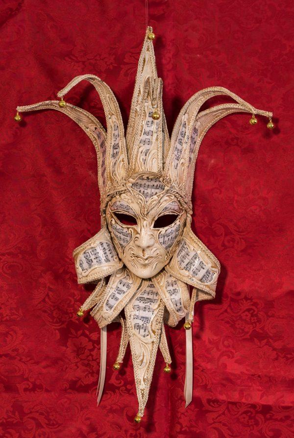 Maschera Veneziana Jolly Avorio