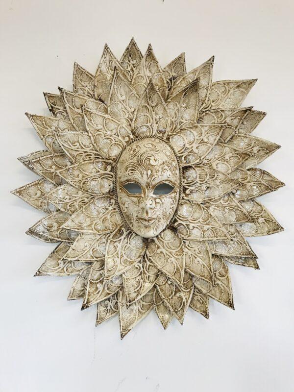 Maschera Veneziana Sole Gigante Avorio