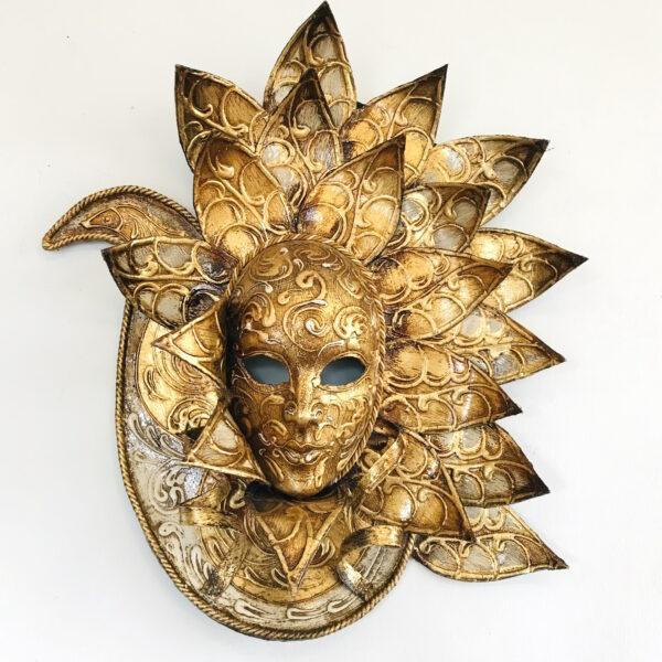 Maschera Veneziana Pavone Oro