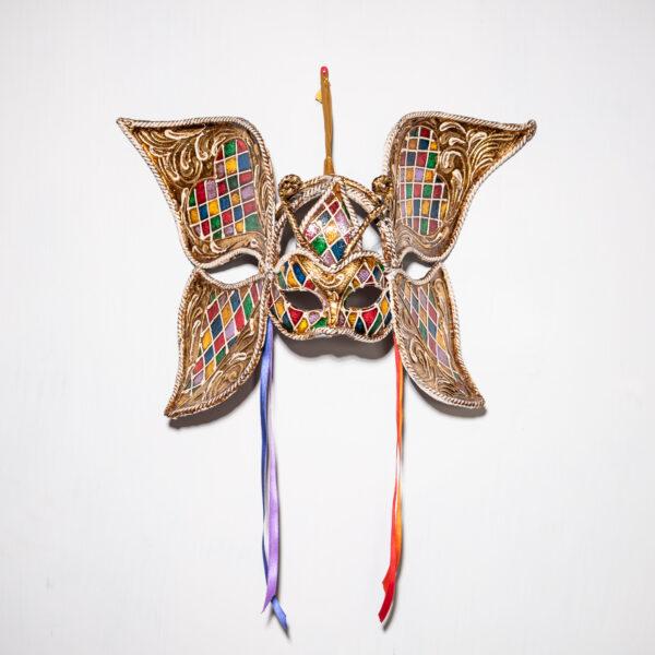 Maschera Veneziana Farfalla Arcobaleno