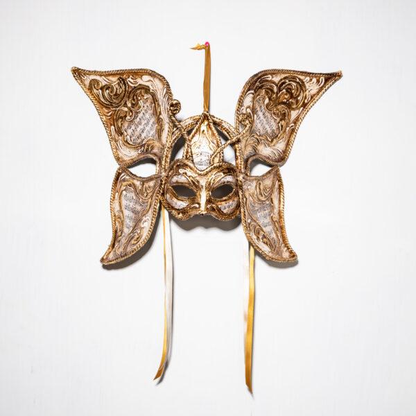 Maschera Veneziana Farfalla Dorata