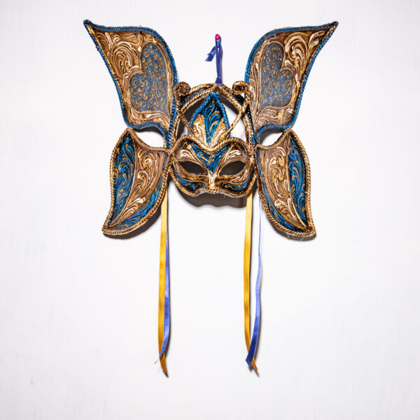 "Maschera Veneziana Farfalla ""Blue Passion"""