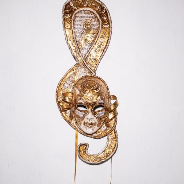 Maschera Veneziana Mozart Oro