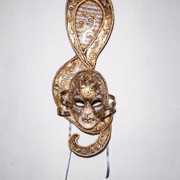 Maschera Veneziana Mozart Argento